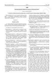 Rozporządzenie w sprawie udzielania pomocy publicznej w ramach ...