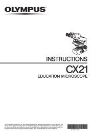 Microscope CX21 manual - VTP UP