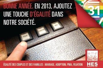 Bonne année.en 2013, ajoutez une touche d'égalitédans notre ...