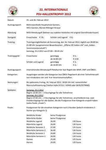 Ausschreibung Hallentrophy 2012.pdf - PSV Steyr