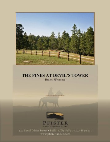 THE PINES AT DEVIL'S TOWER - Pfister Land Company, LLC