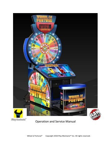 Operation and Service Manual - BMI Gaming