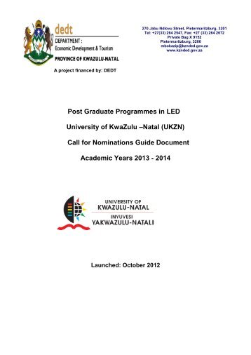 2. Brief Overview of Post Graduate Programmes - Department of ...