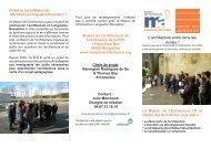 info-com scolarchi - Maison de l'Architecture Languedoc-Roussillon