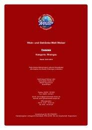 Preisliste für Kategorie: Rheingau - und Getränke-Welt Weiser