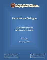 Farm House Dialogue - Africa Leadership Forum