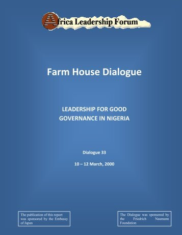 Farm House Dialogue - Africa Leadership Forum