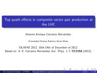 Top quark effects in composite vector pair production at ... - ictp – saifr