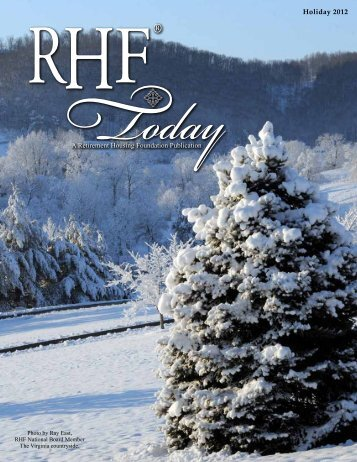 2012 Holiday RHF Today - Retirement Housing Foundation