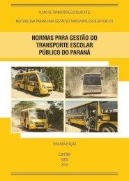 Manual de Normas para a Gestão do Transporte Escolar ... - NRE