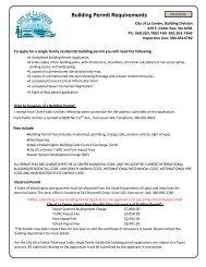 Building Permit Requirements - City of La Center
