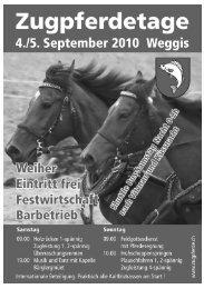 Programmheft - Verein Freunde Schwerer Zugpferde Schweiz
