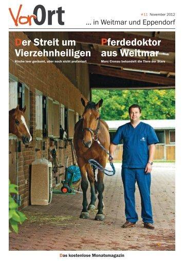 Vor Ort ... Pferdedoktor aus Weitmar Marc Cronau behandelt