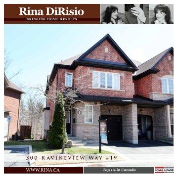 300 Ravineview Way #19 - Rina DiRisio