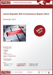 Czech Republic B2C E-Commerce Report 2012 Terms ... - yStats.com