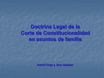 Doctrina legal en Asuntos de Familia - Corte de Constitucionalidad
