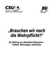 Brauchen wir noch die Wehrpflicht? - Junge Union Bayern