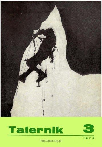Taternik 3 1972 - Polski Związek Alpinizmu