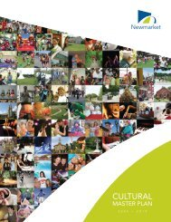 Cultural Master Plan - Town of Newmarket