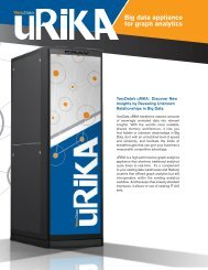 Big data appliance for graph analytics - Guidebook