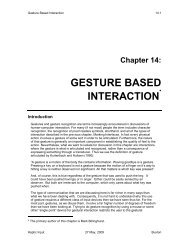 GESTURE BASED INTERACTION