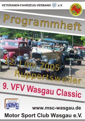 Programmheft - Motor Sport Club Wasgau e.V.