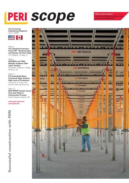 PERI scope 01/2006 - The Formwork Engineering Magazine