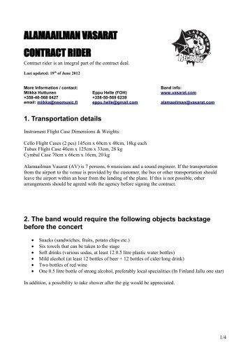3. Technical requirements - Alamaailman Vasarat