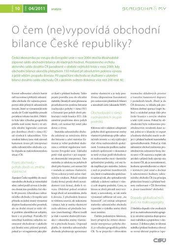 O čem (ne)vypovídá obchodní bilance České republiky? - Český ...