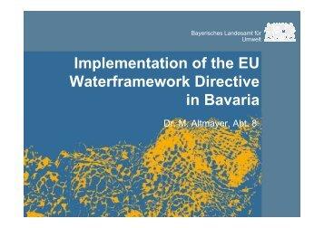 Implementation of the EU Waterframework Directive ... - Wfd-croatia.eu