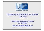 Gestione preospedaliera del paziente con ictus Dott.ssa Antonella ...