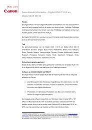 Aanvullende informatie – Digital IXUS 110 IS en Digital IXUS 990 IS