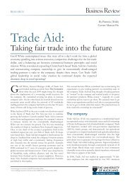 Trade Aid by Patricia (Trish) Corner, Marcus Ho - University of ...