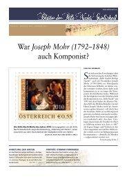 Joseph Mohr - Stille Nacht Gesellschaft