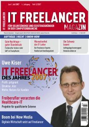 IT Freelancer Magazin Nr. 3/2007
