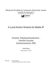 A Local Anchor Scheme for Mobile IP Seminar ... - Informatik 4