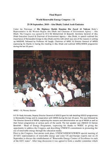 11 25-30 September, 2010 – Abu Dhabi, United Arab Emirates ...