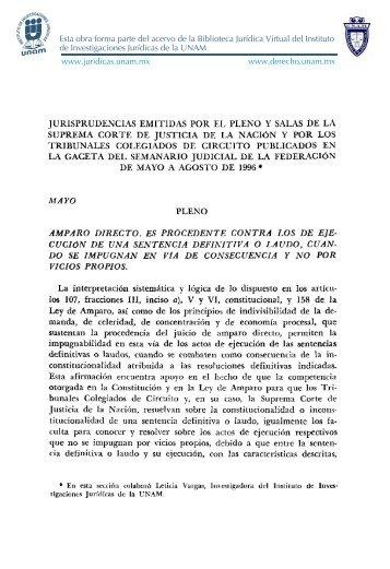jurispkudencias emitidas por el pleno y salas - Instituto de ...