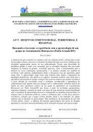GT 9 - DESENVOLVIMENTO RURAL, TERRITORIAL E ... - SOBER
