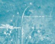 Annual Report 2001 - Sierra Club BC