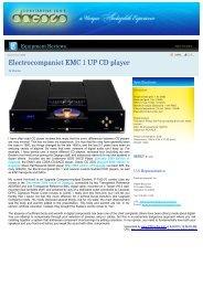 Electrocompaniet EMC 1 UP CD player