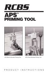 APS Priming Tool Instructions - RCBS