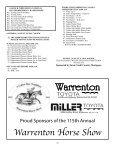 Prize List - The Warrenton Horse Show - Page 5