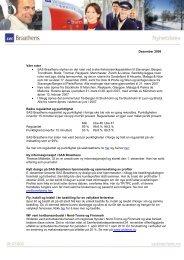 Desember 2006 Våre ruter • SAS Braathens styrker en del ruter ved ...