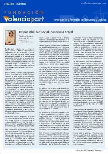 marzo - Fundación Valenciaport - Autoridad Portuaria de Valencia