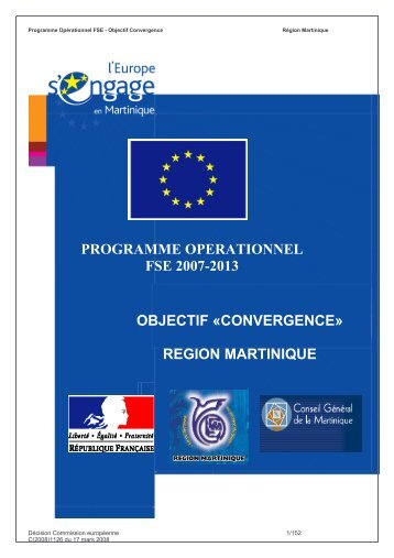 PO FSE MARTINIQUE.pdf - Europe en France, le portail des Fonds ...