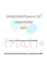 REGULAMENTO geral DE COMPETIÇÕES 2013 - Triatlo Madeira