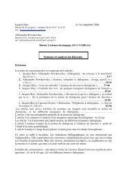 Syntaxe et analyse du discours - Atelier des Sciences du Langage ...