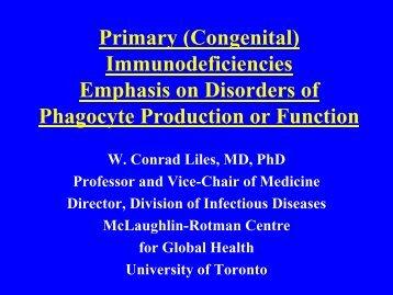 (Congenital) Immunodeficiencies - Infectious Diseases - University ...