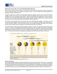 Asset Allocation - Key to Long Term Success - Staib Financial ...